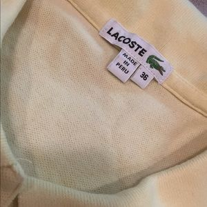 Lacoste Tops - Yellow Lacoste women's polo
